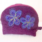 Purple Make Up Zipper Pouch