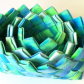 Woven baskets, dyed, 3 in 1