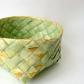 Woven Scandinavian basket with folded details