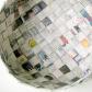 Scandinavian woven container, recycled Danish newspaper