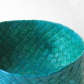 Scandinavian basket, woven, painted